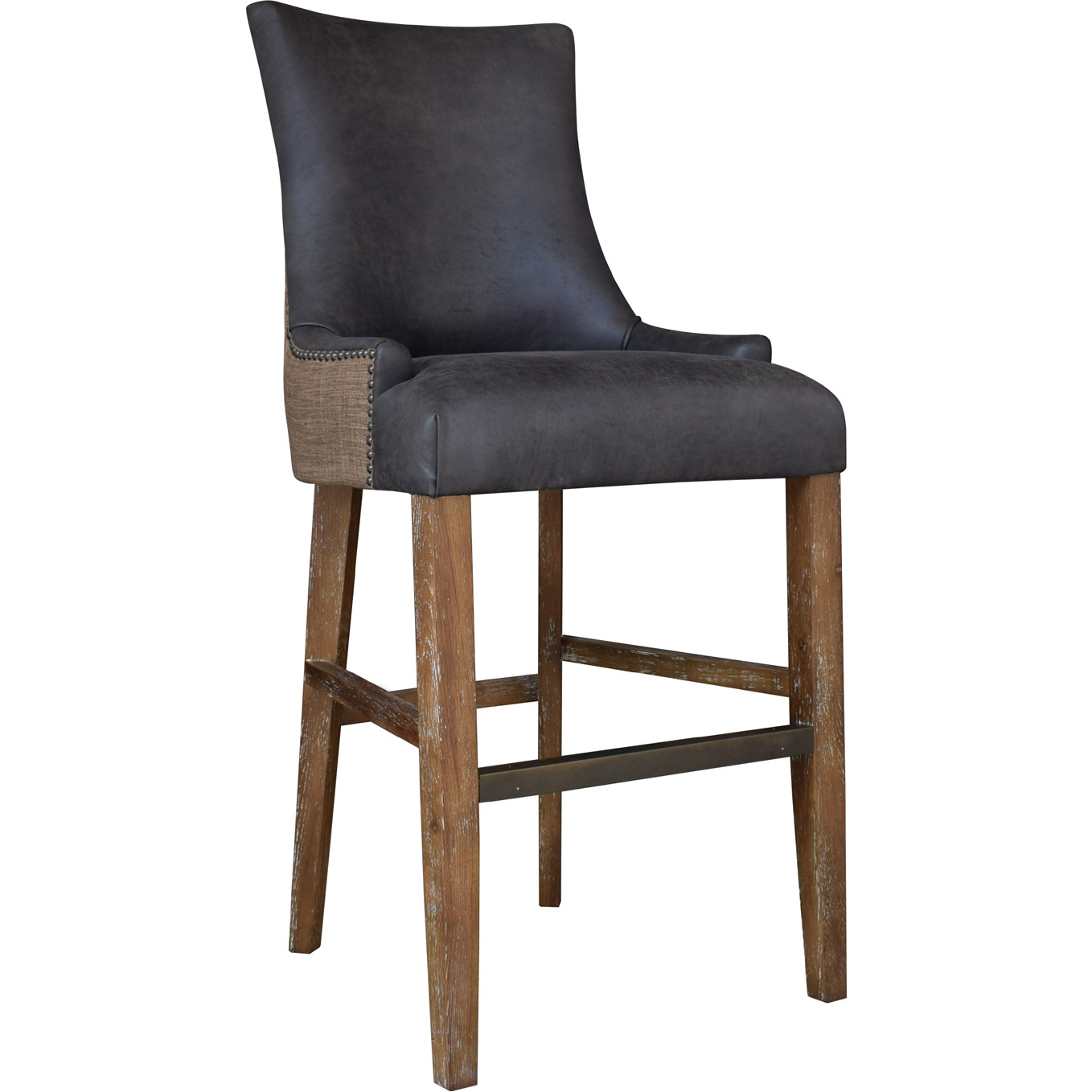 Terrific Sanibel Island Bar Stool In Brown Eco Leather Dark Linen By Padmas Plantation Caraccident5 Cool Chair Designs And Ideas Caraccident5Info