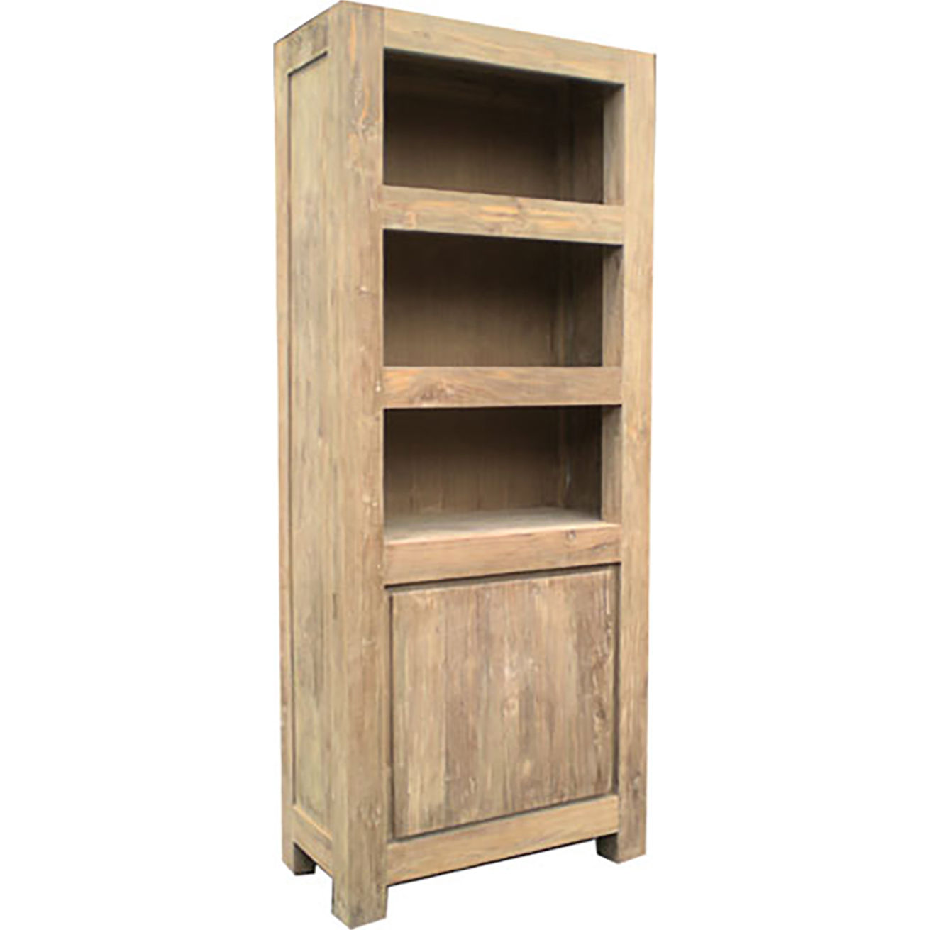 Stockholm Reclaimed Teak Bookcase In Distressed Recycled Teak By Padma S Plantation