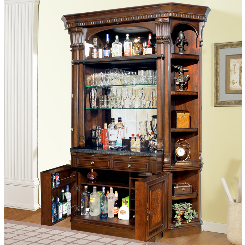 Parker House Cor 465 2 Corsica Library 4 Piece Bar Base Hutch W