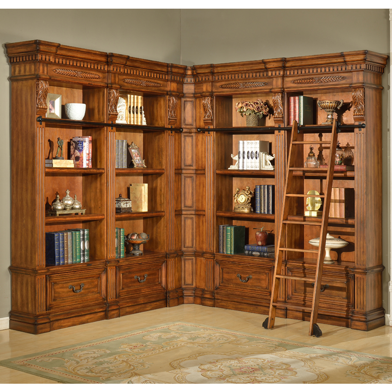 antique library bookcase 2