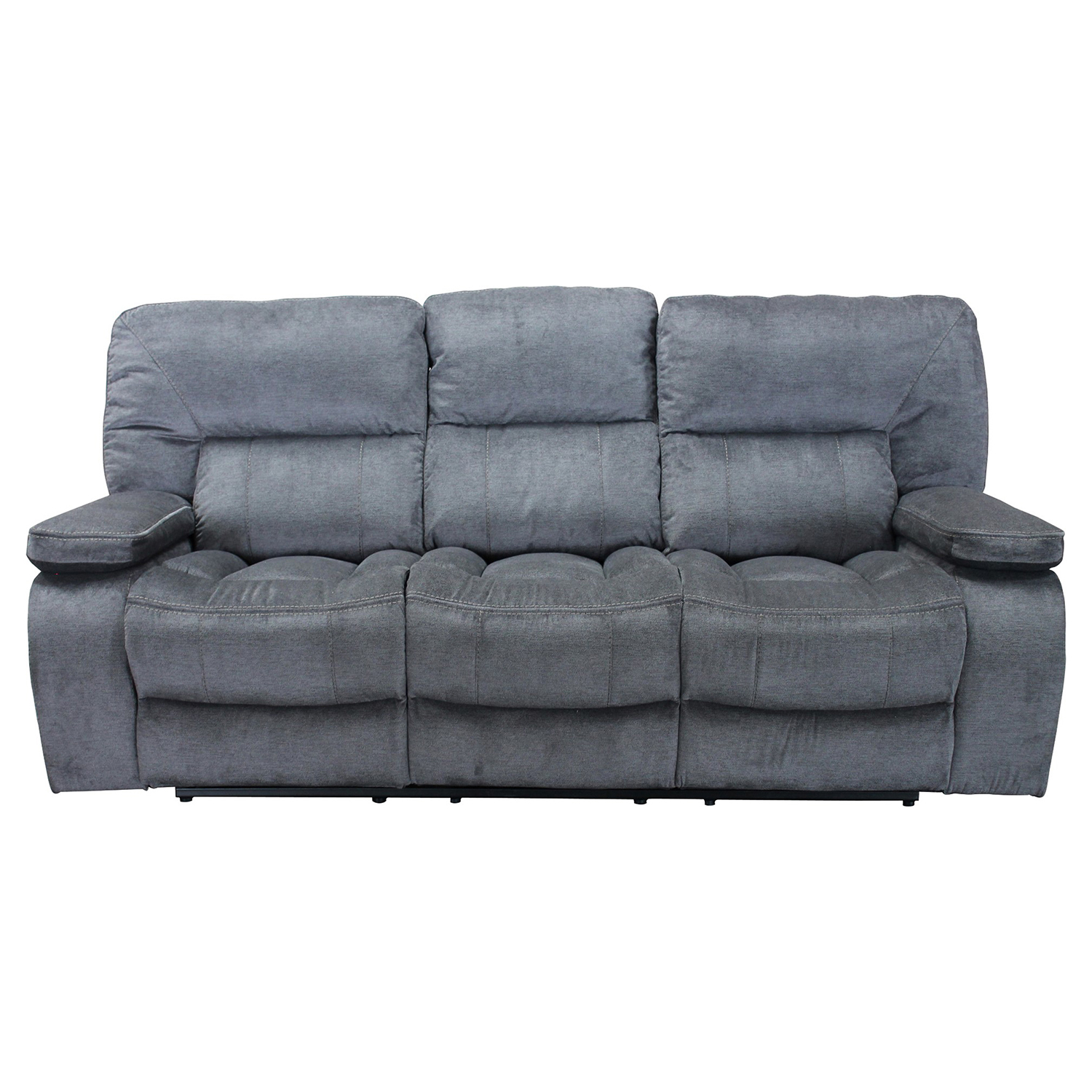 Marvelous Chapman Manual Triple Reclining Sofa In Polo Blue Fabric By Parker House Gmtry Best Dining Table And Chair Ideas Images Gmtryco
