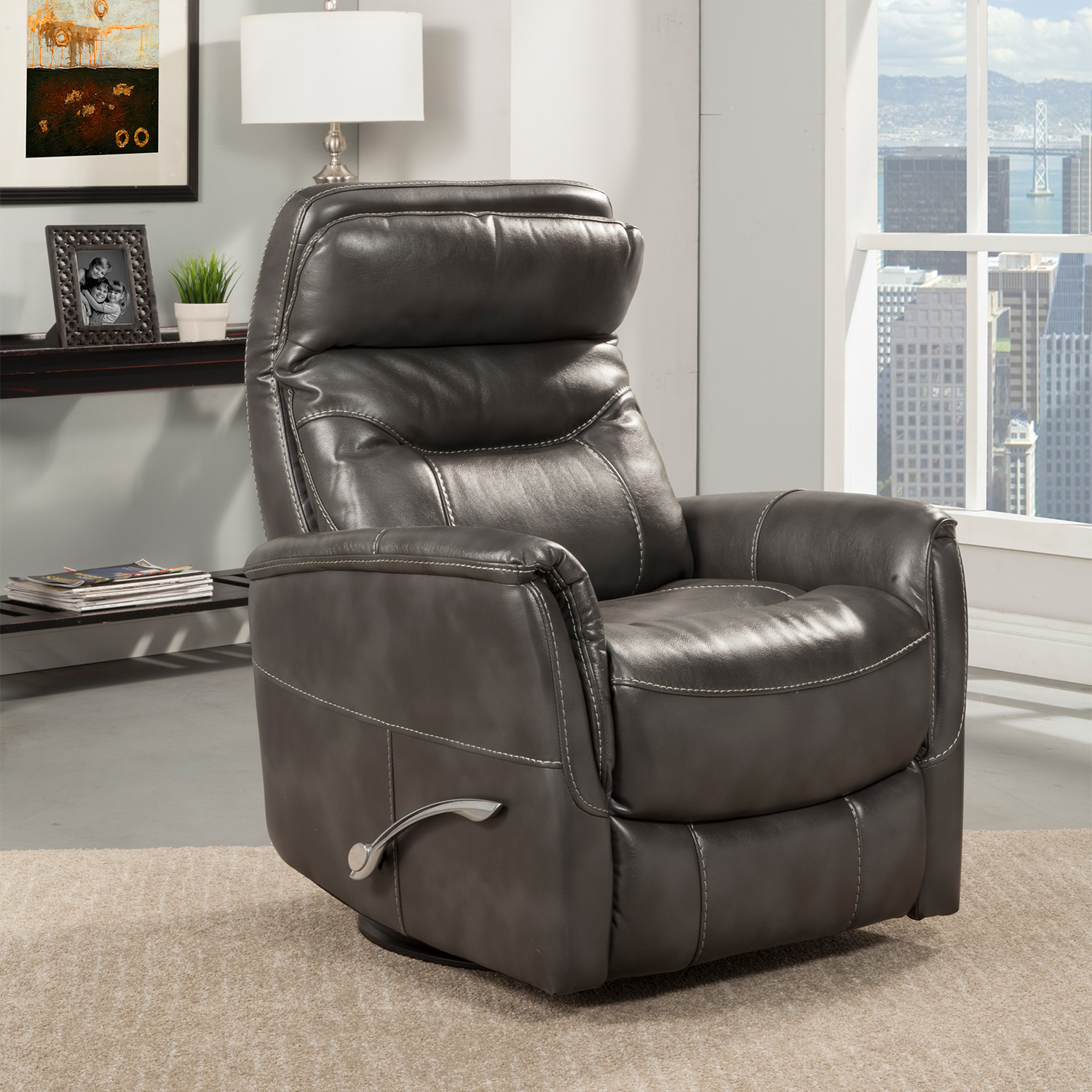 Gemini Glider Swivel Recliner in Flint Leatherette & Parker House MGEM#812GS-FLI Gemini Glider Swivel Recliner in Flint ... islam-shia.org