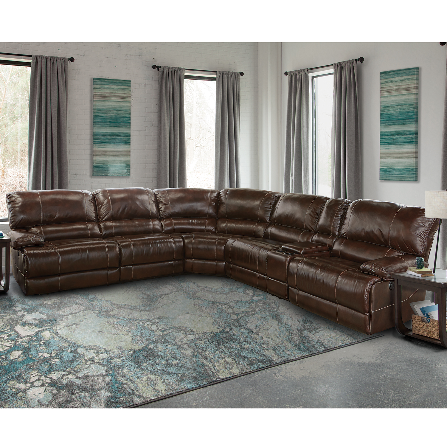 Parker House MSHA 6PC SECTIONAL Shaw 6 Piece Sectional Sofa in
