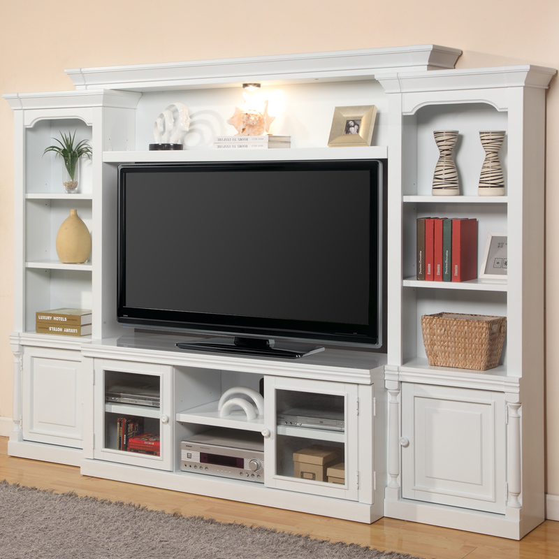 Premier Alpine 4 Piece Entertainment Wall Unit In Cottage White