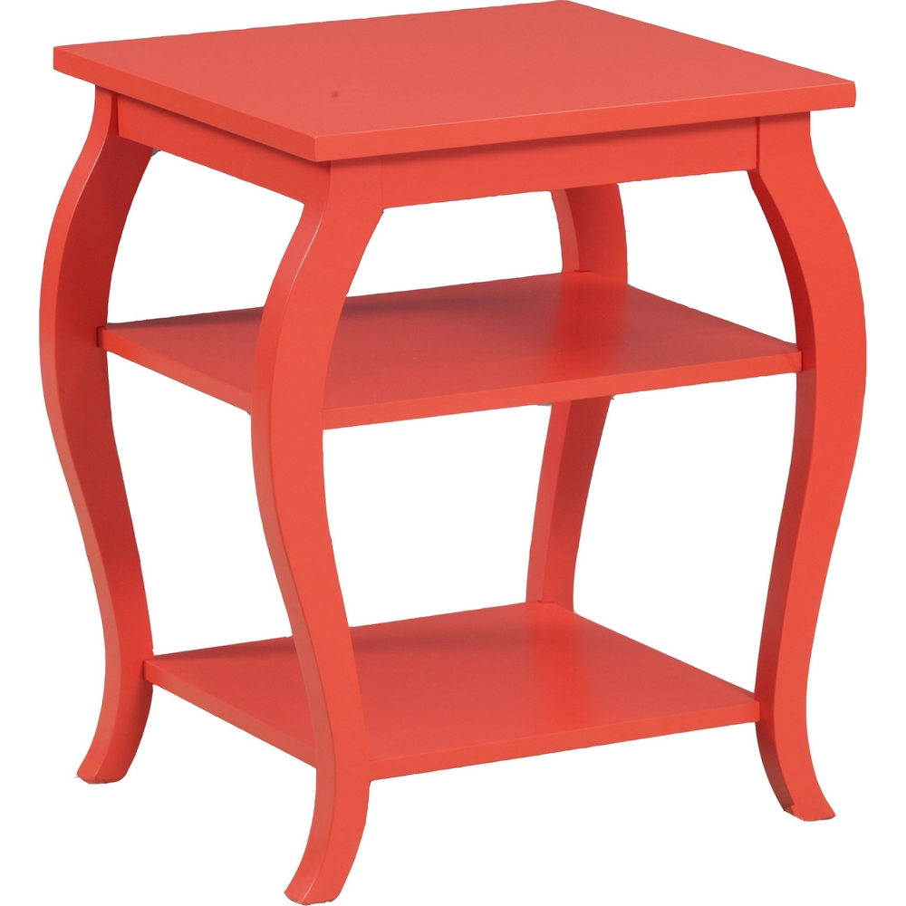 Superior Powell A Panorama Orange Side Table W Shelves