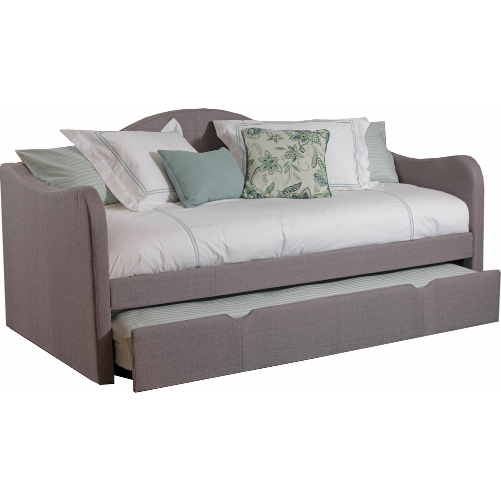 Powell 14s2019 Upholstered Daybed W Trundle In Taupe Fabric