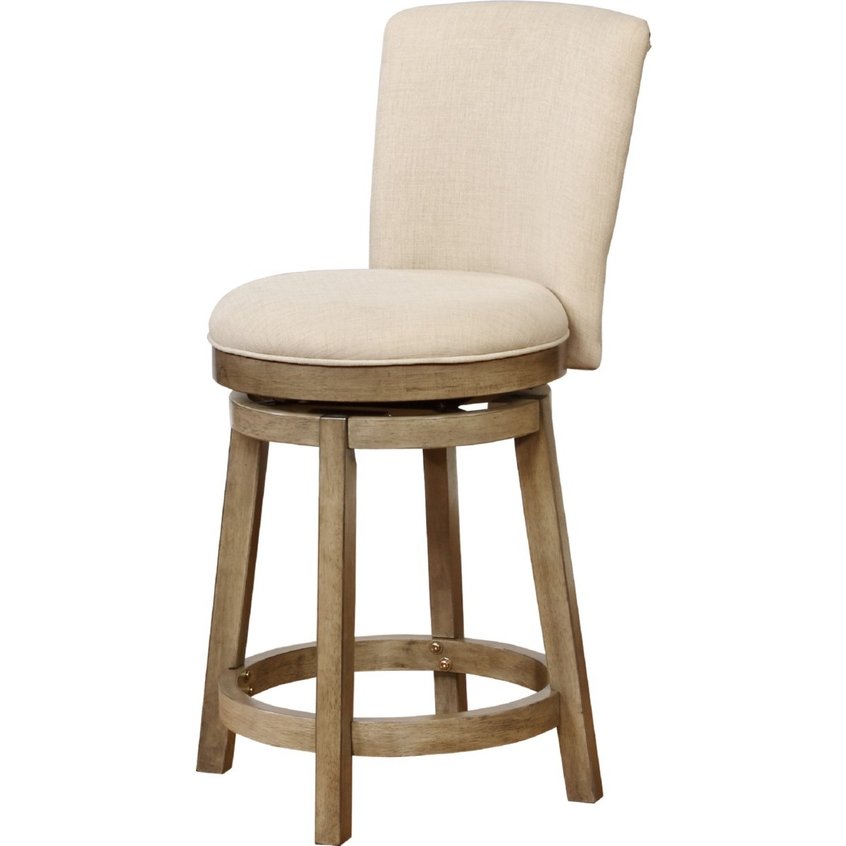 Superb Davis Big Tall Counter Stool In White Wood W Linen Look Fabric By Powell Ncnpc Chair Design For Home Ncnpcorg