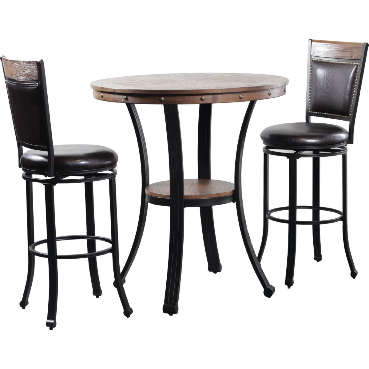 Powell 15d2020pt3 Franklin Pub Table 3 Piece Pub Table