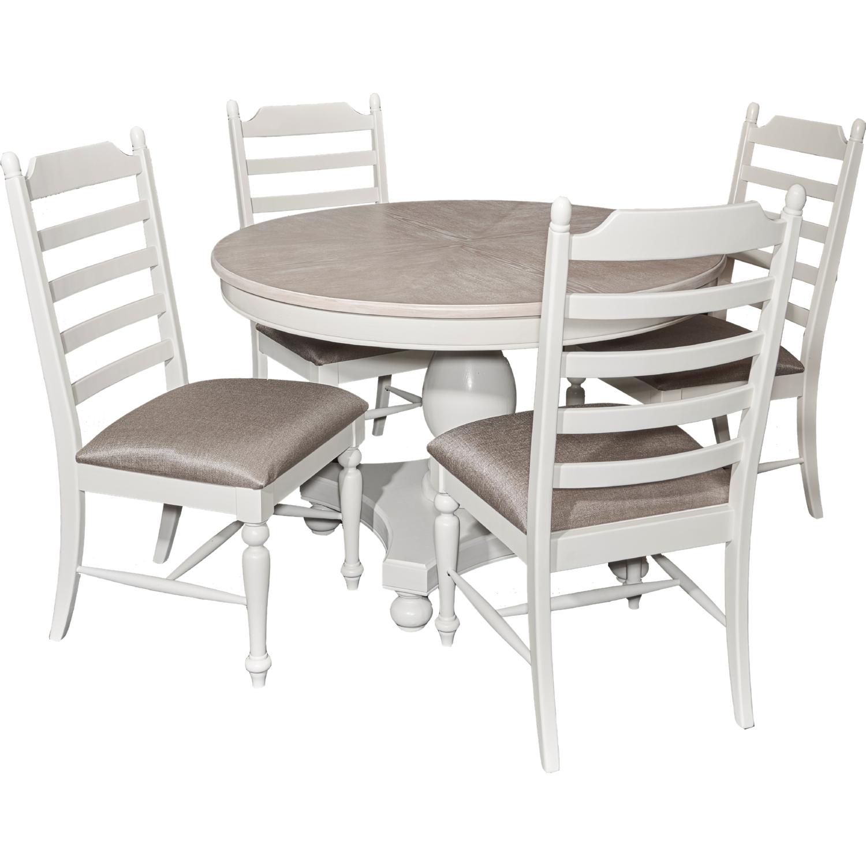 powell d1032d16scx slater dining chair in white w ladder back