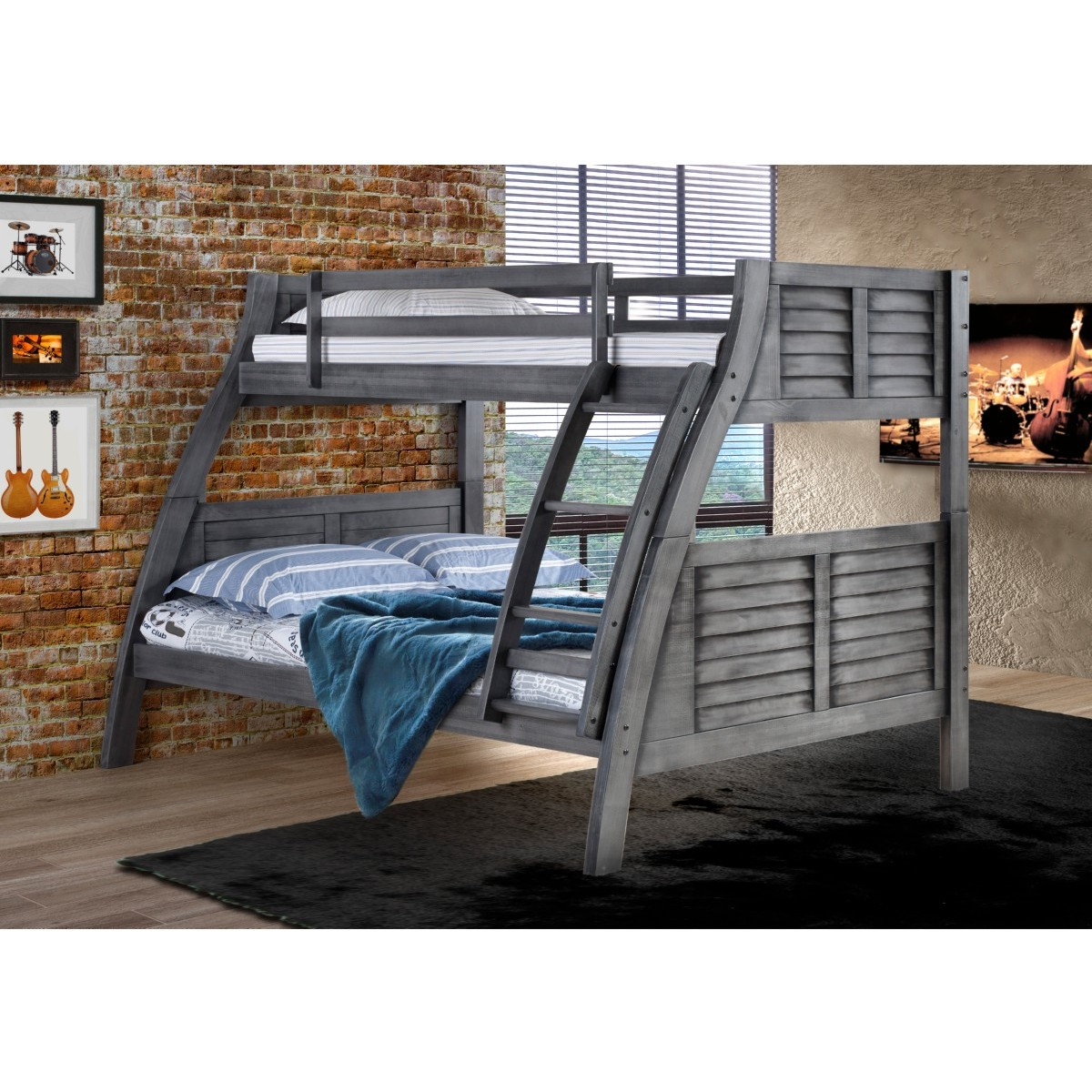 Powell 16y8185bb Easton Twin Over Full Bunk Bed In