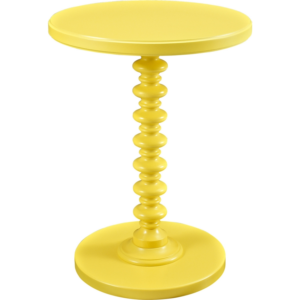 Powell 256-269 Yellow Round Spindle Occasional Table