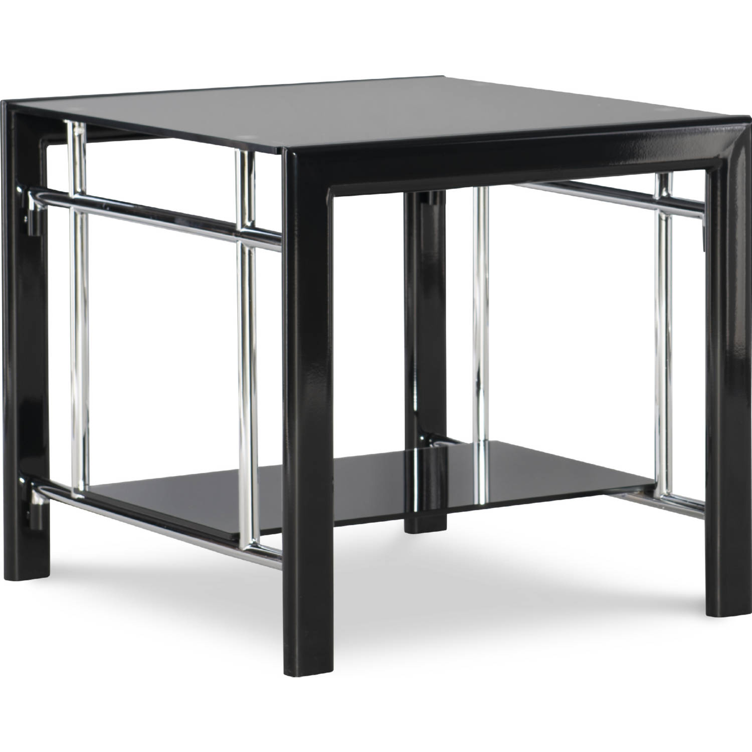 Picture of: Powell 629 210c Black Glass End Table
