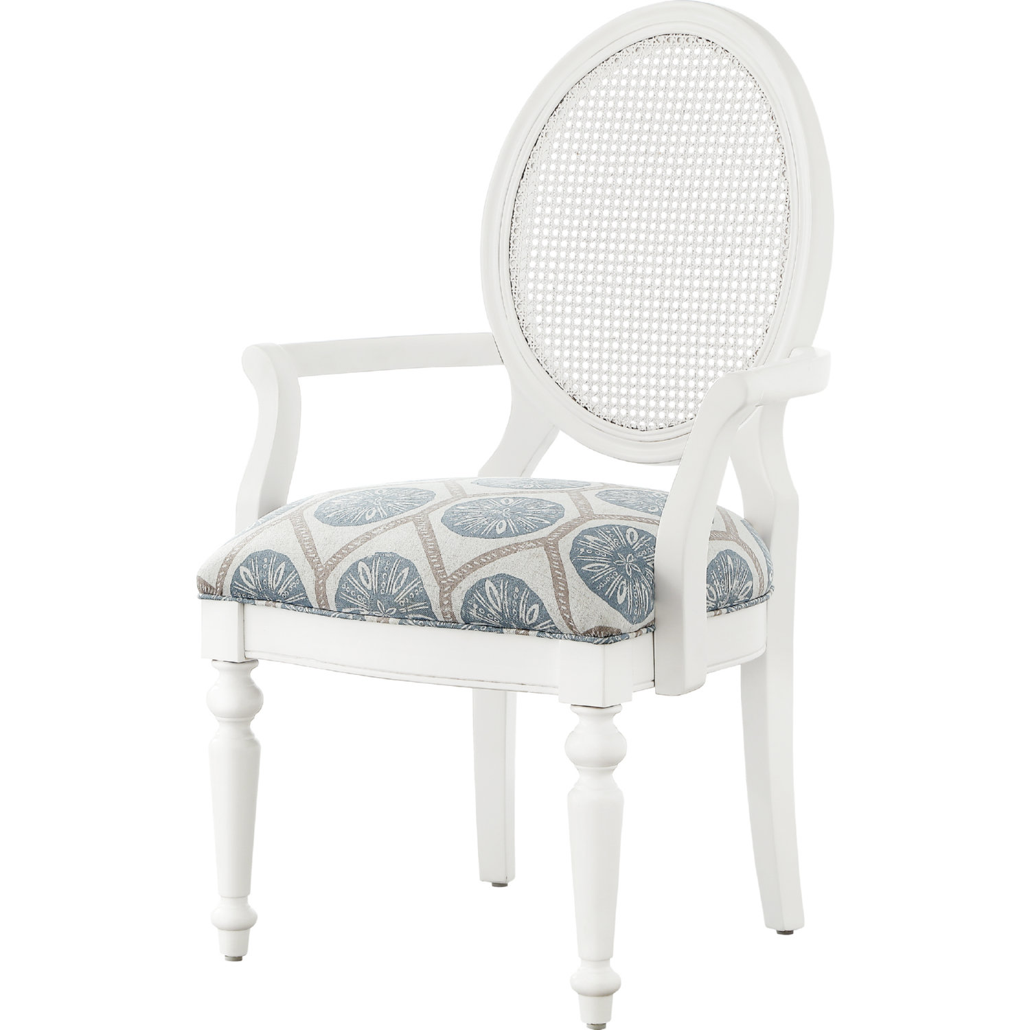 Surprising Cilia Accent Chair In White Wood Rattan W Multicolor Fabric Seat By Powell Gamerscity Chair Design For Home Gamerscityorg
