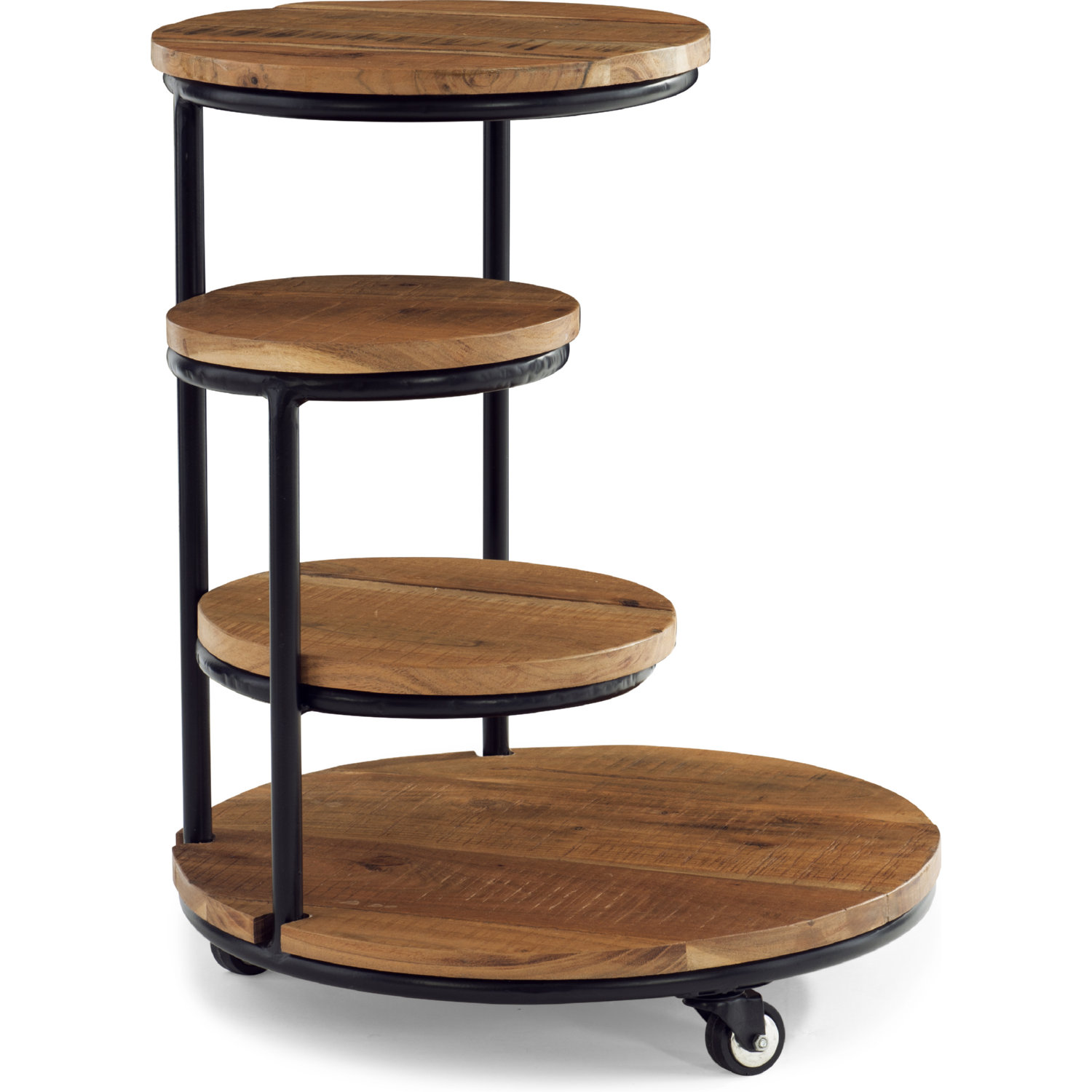 Powell D1247a19ps Collis 4 Tiered Plant Stand W Wheels In Wood Black