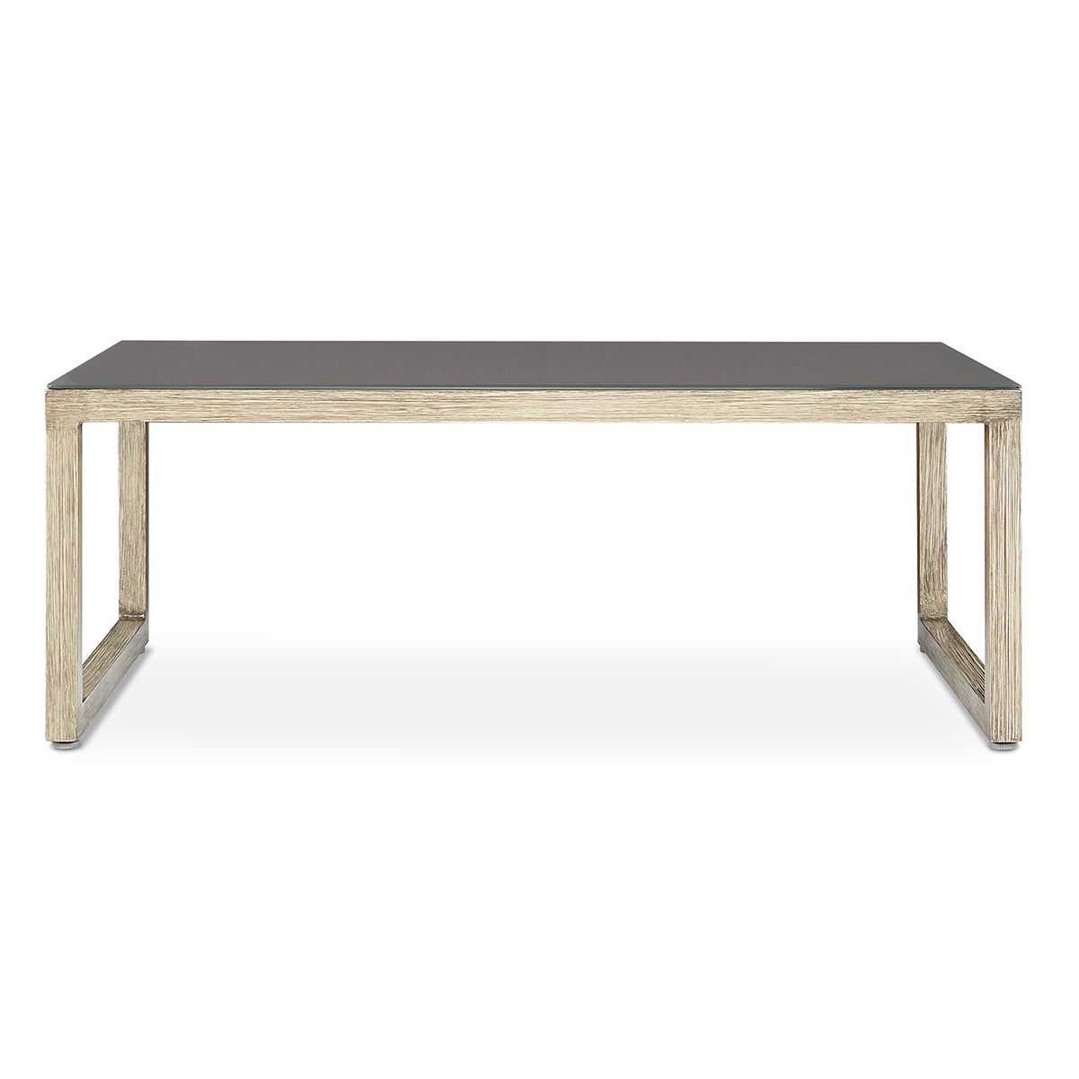 Real flame 1172 baw monaco coffee table in brushed antique white monaco coffee table in brushed antique white aluminum frame w glass top geotapseo Gallery