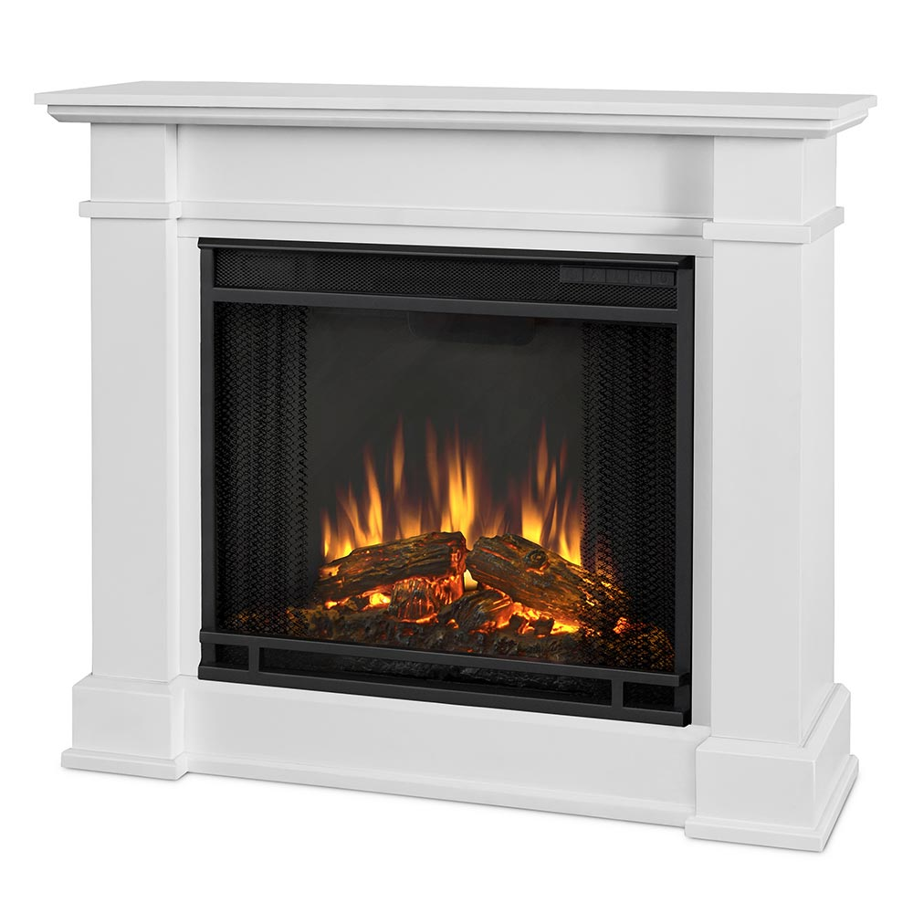 Real Flame 1220e W Devin Indoor Ventless Electric Fireplace In White
