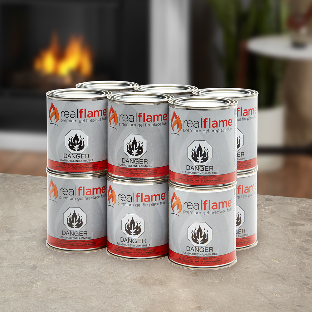 Ventless Fireplace Gel Fuel - 13 oz Cans - 12 pk - Real Flame 2112 Ventless Fireplace Gel Fuel - 13 Oz Cans - 12 Pk