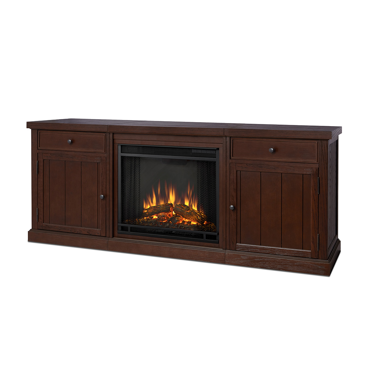 """Real Flame 2720E CO Cassidy 68"""" TV Stand w Ventless"""