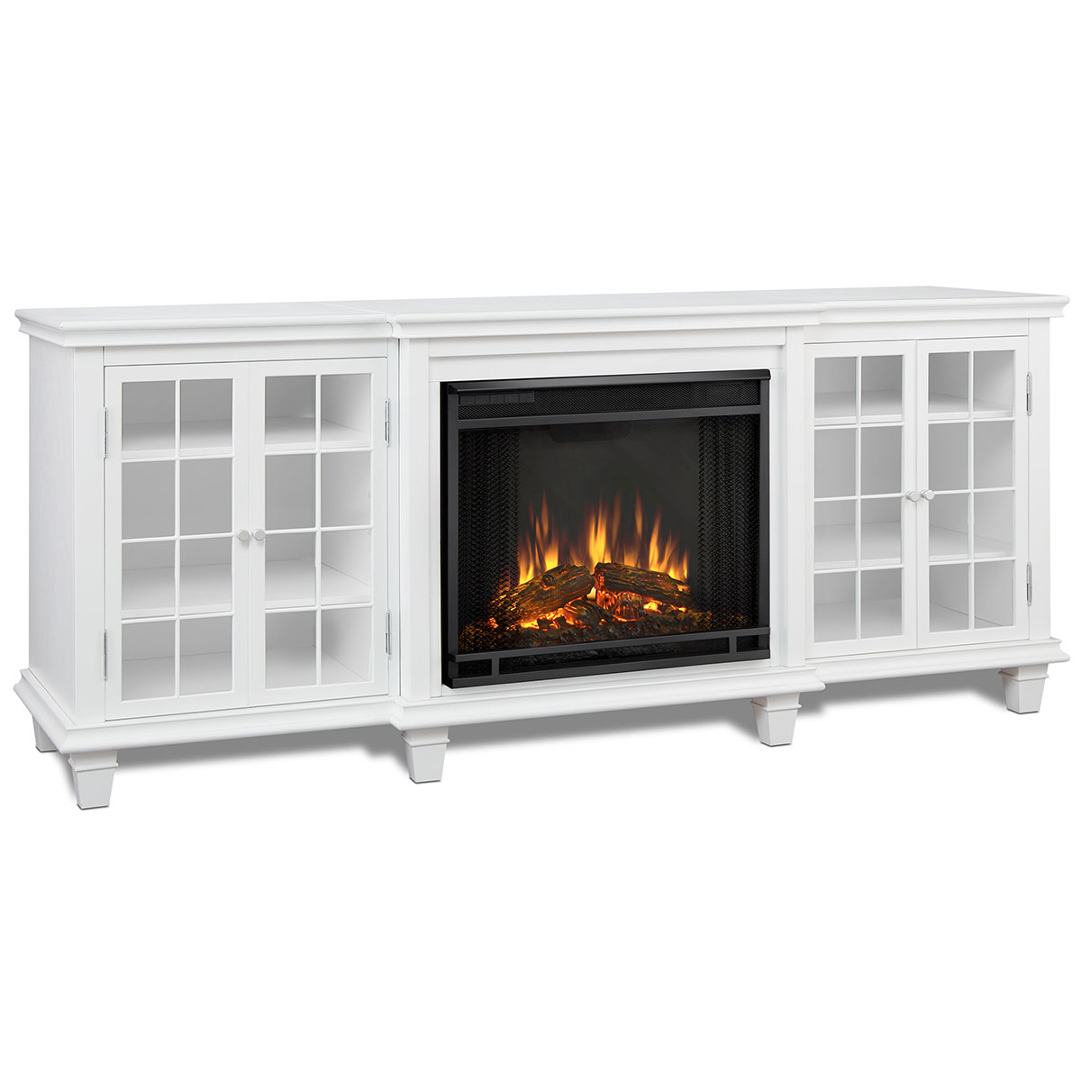 Real Flame 2770e W Marlowe 70 Quot Tv Stand W Electric Fireplace In White