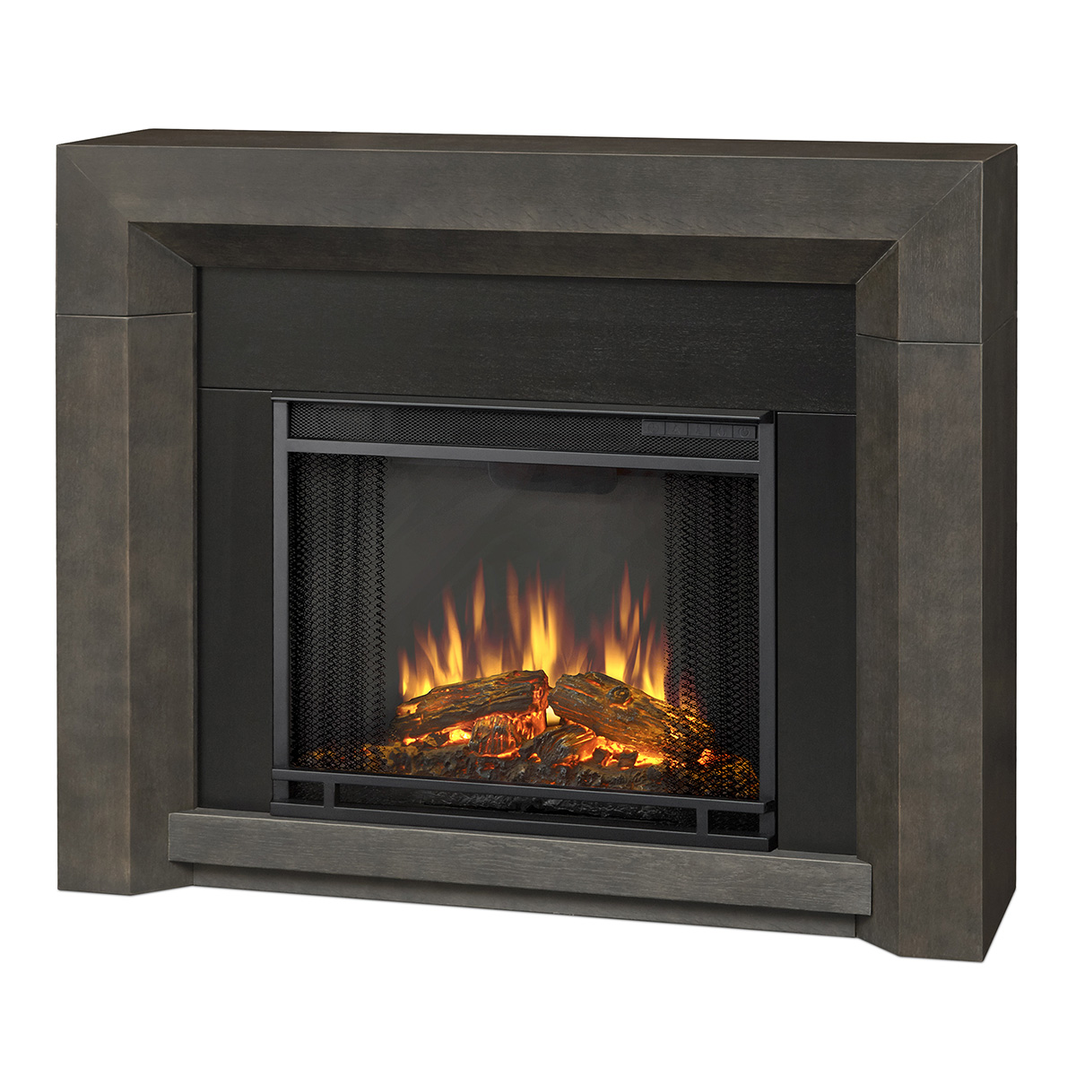 Real Flame 3001e Gry Hughes Indoor Ventless Electric Fireplace In Gray