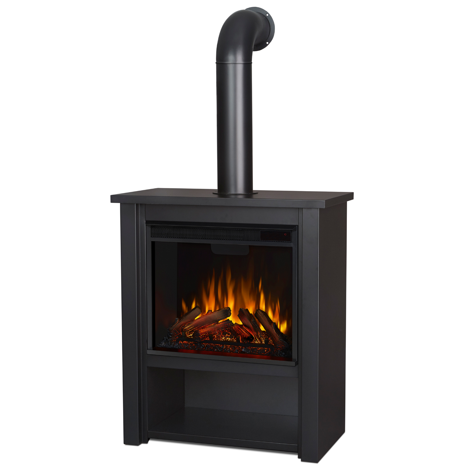 real flame 5005e bk hollis indoor ventless electric fireplace in