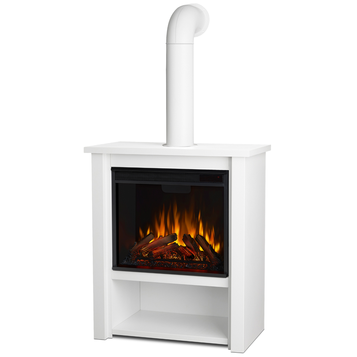 Real Flame 5005e R Hollis Indoor Ventless Electric Fireplace In Glossy Red Steel