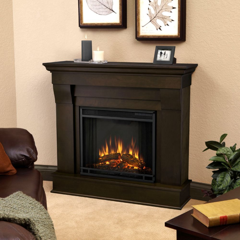 Real Flame 5910e Dw Chateau Indoor Ventless Electric Fireplace In Dark Walnut