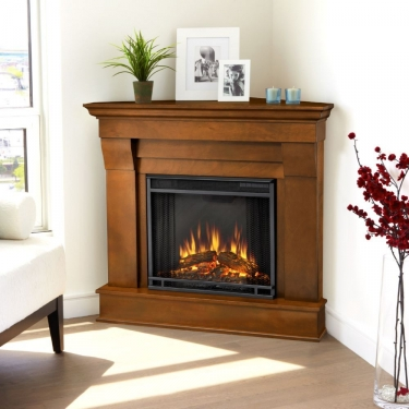 Real Flame 5950e E Chateau Corner Indoor Electric Fireplace In Espresso