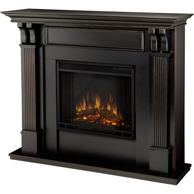Real Flame 7100e Bw Ashley Indoor Ventless Electric Fireplace In Black Wash