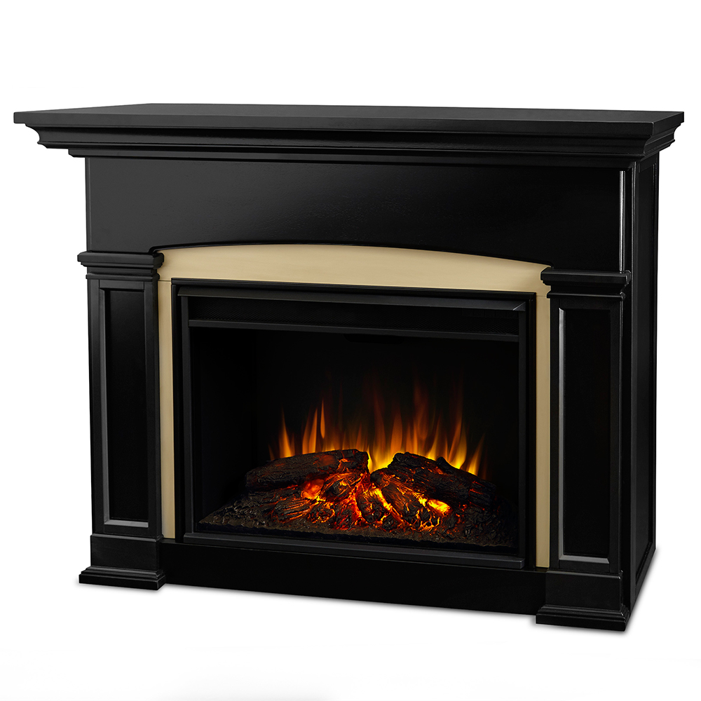 Real Flame 7660e Bk Holbrook Grand Ventless Electric Fireplace In Black