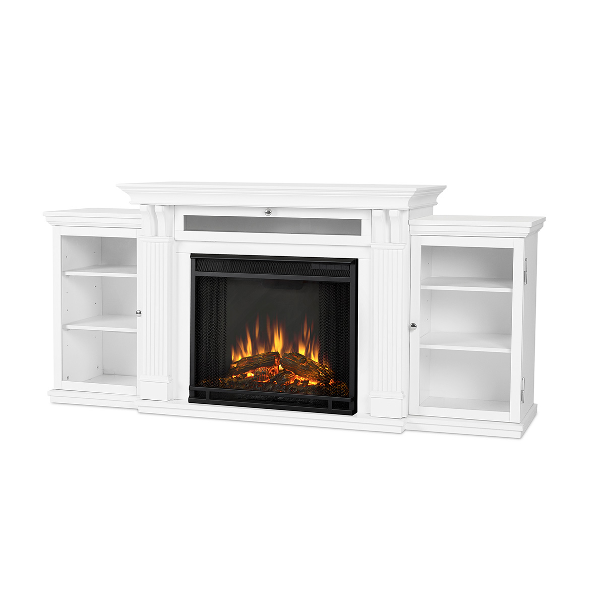 Real Flame 7720e W Calie Tv Stand W Ventless Electric Fireplace In White