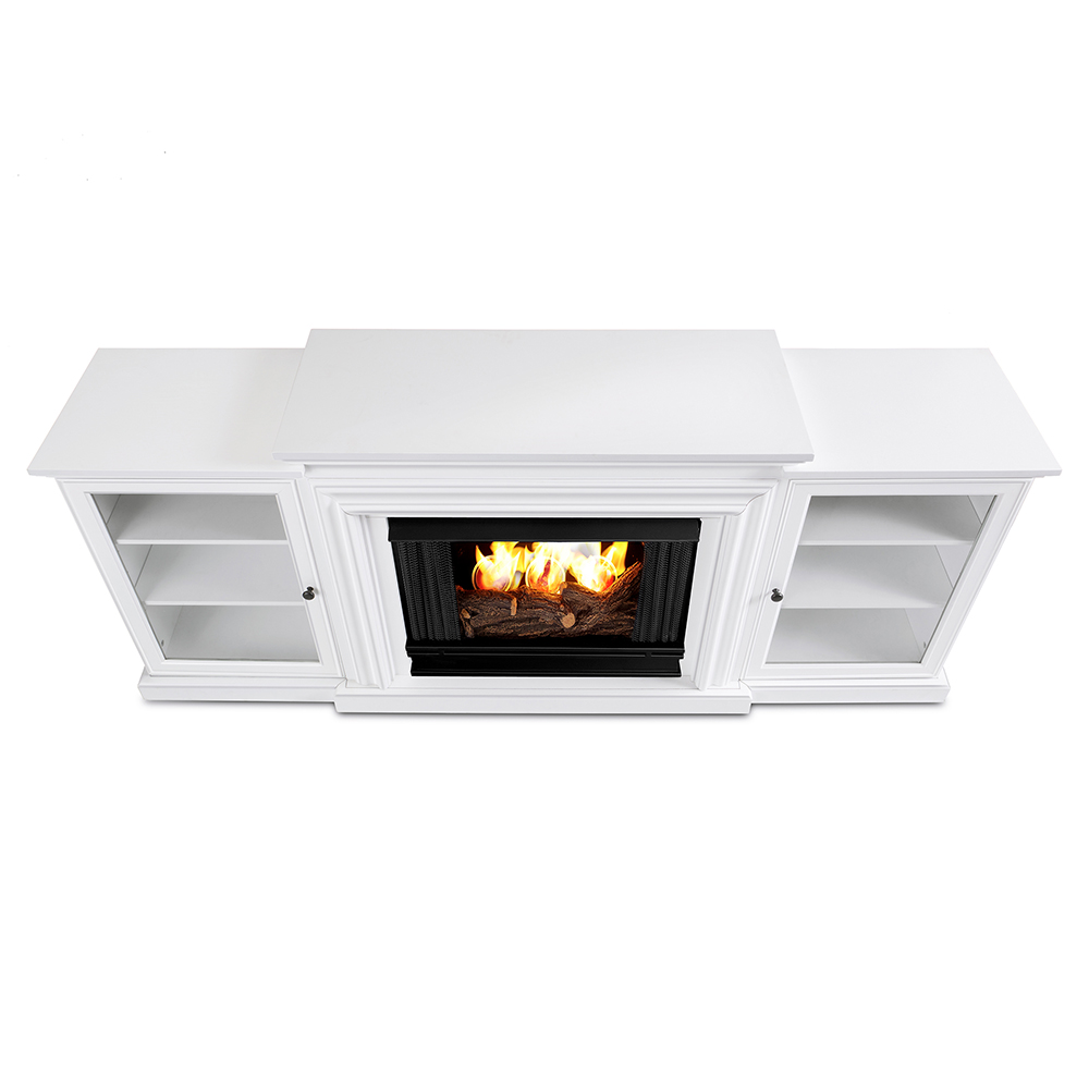 real flame 7740 w frederick tv stand w ventless gel fireplace in