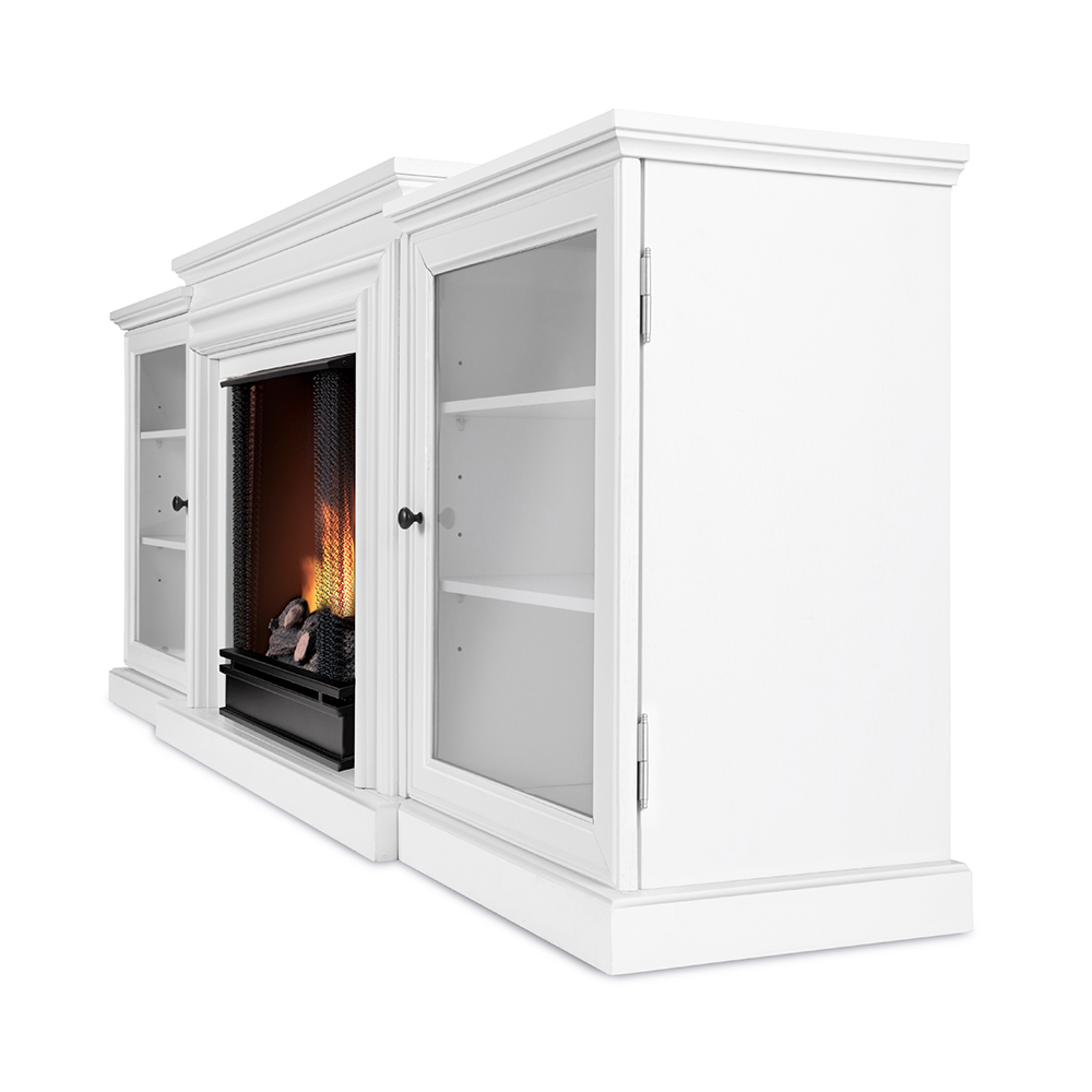 Real Flame 7740-W Frederick TV Stand Ventless Gel Fireplace White Real-Flame-7740-W