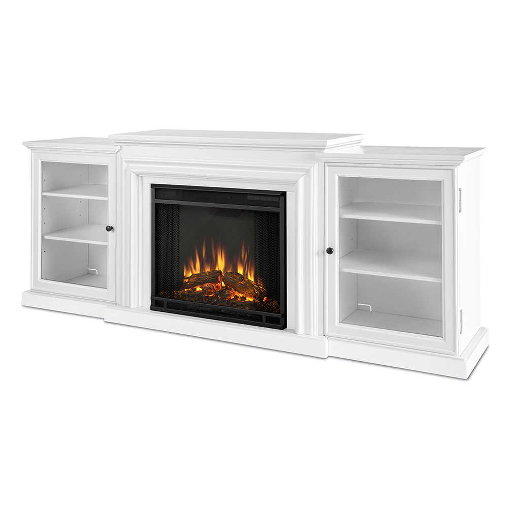 Real Flame 7740e W Frederick 72 Tv Stand W Ventless Electric Fireplace In White