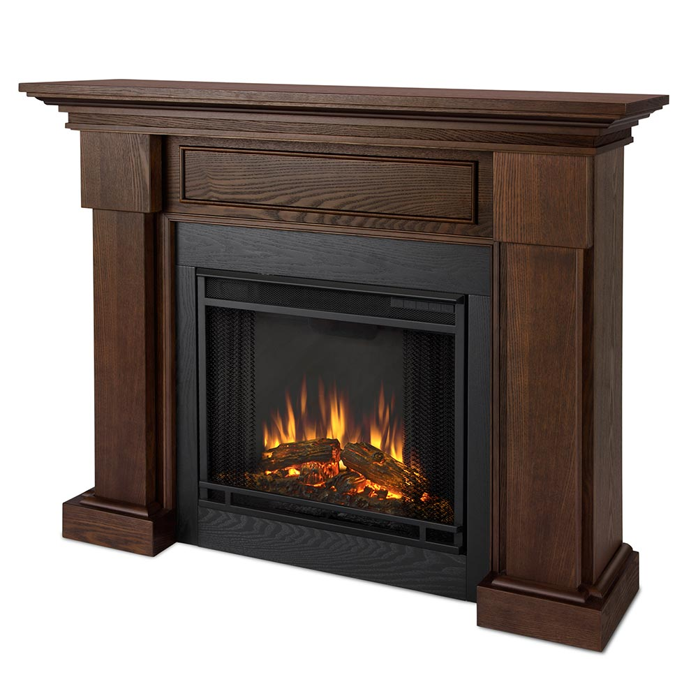Real Flame 7910e Co Hillcrest Indoor Ventless Electric Fireplace In Chestnut Oak W Black Surround
