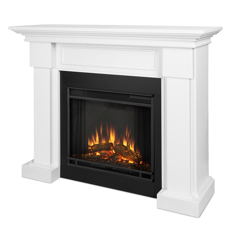 Real Flame 7910E W Hillcrest Indoor Ventless Electric Fireplace In White W B