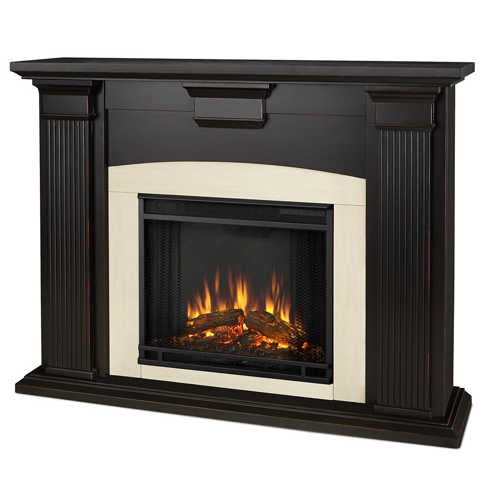 Real Flame 7920e Bw Adelaide Indoor Ventless Electric Fireplace In Blackwash W Black Surround