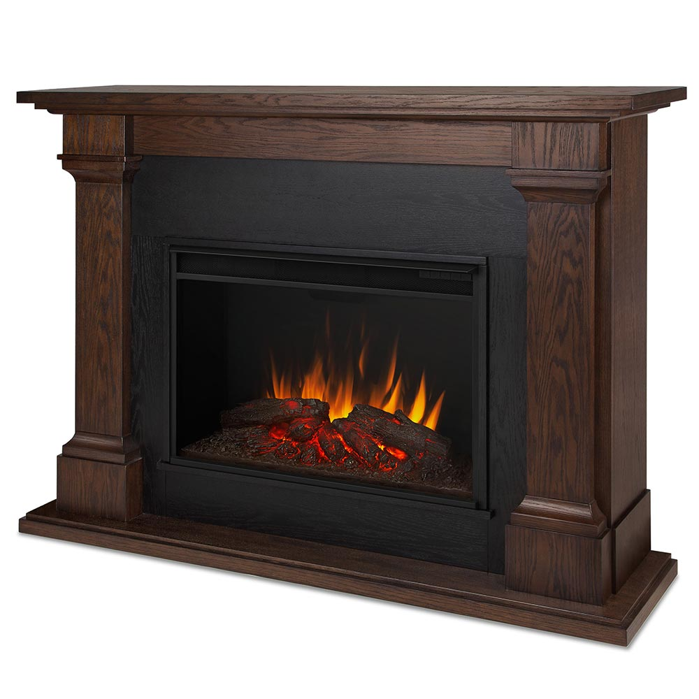 Real Flame 8011e Callaway Grand Indoor Ventless Electric Fireplace In Chestnut Oak