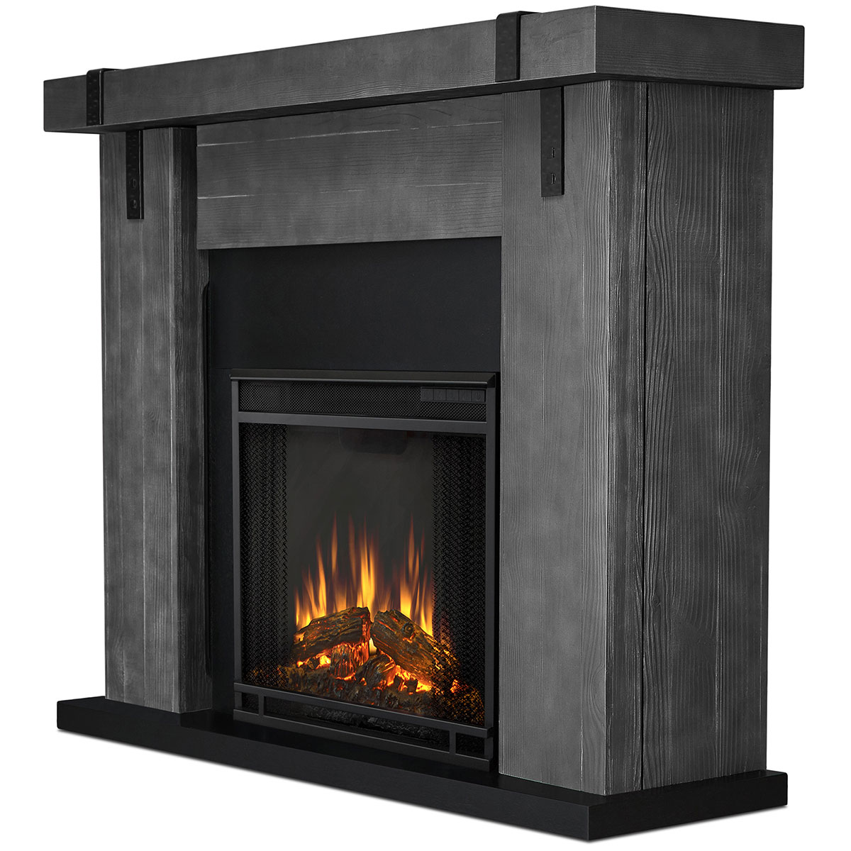 Real Flame 9220E-GBW Aspen Indoor Ventless Electric Fireplace Gray Barnwood Real-Flame-9220E-GBW