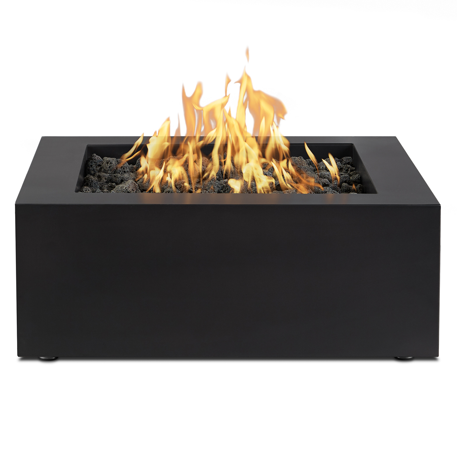 Bryon Liquid Propane Outdoor Fire Pit Table In Raven Finish Steel