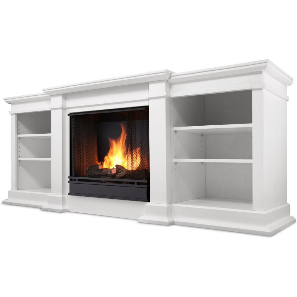 real flame g1200 w fresno tv stand w ventless gel fireplace in white