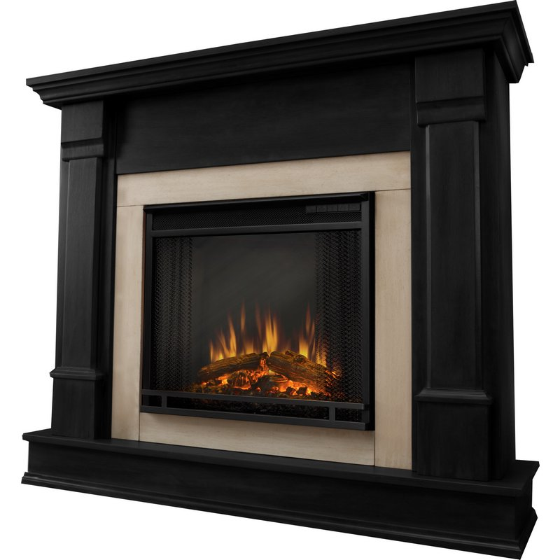 Real Flame G8600e B Silverton Indoor Ventless Electric Fireplace In Black