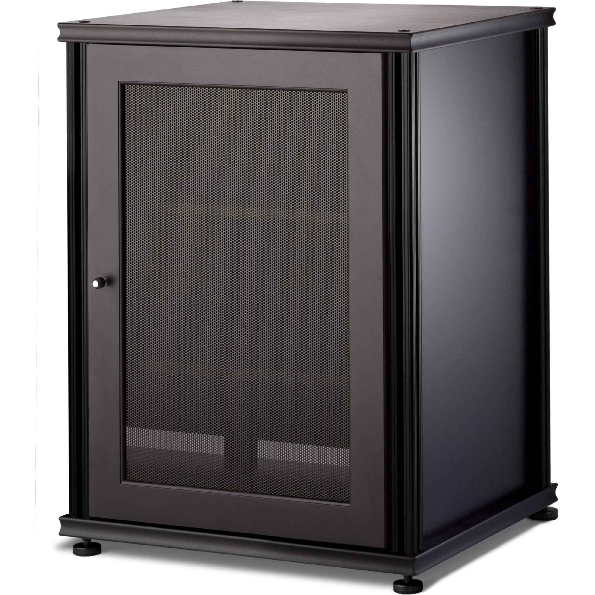Salamander Designs Sb303b B Synergy System 303 Single Width Av Cabinet Audio Rack In Black W