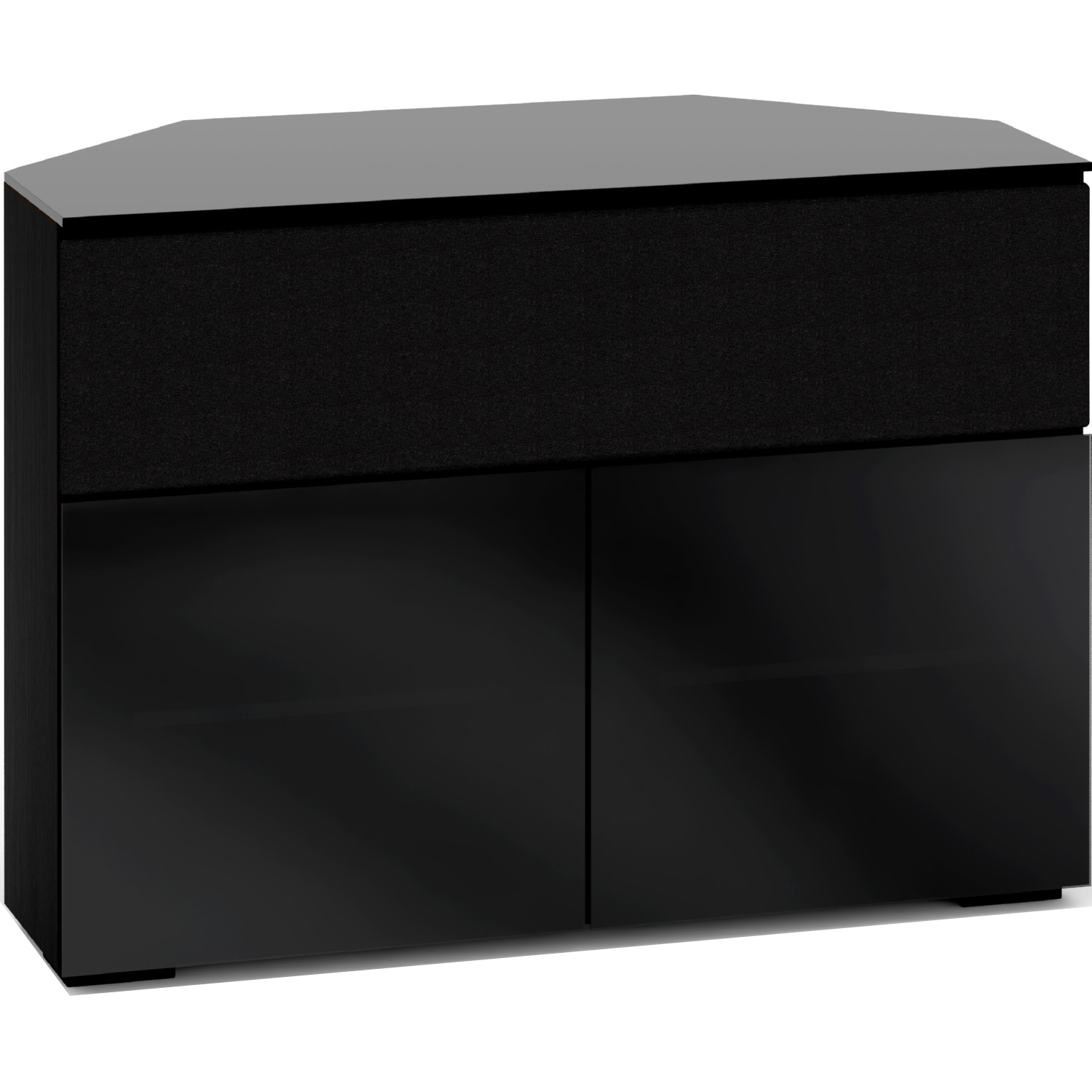 Picture of: Salamander Designs C Os329cr Bg Oslo 329cr 44 Extra Tall Corner Tv Stand Cabinet For Center Speaker In Black Oak W Smoked Black Gl