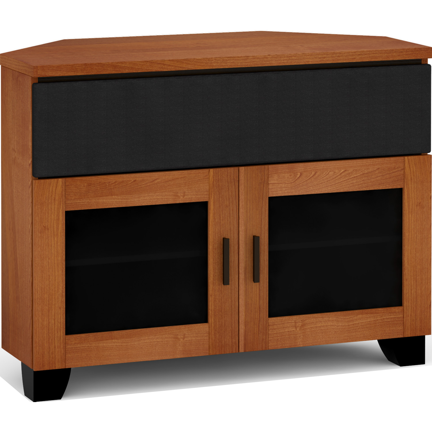 Picture of: Salamander Designs C El329cr Ac Elba 329cr 44 Extra Tall Corner Tv Stand Cabinet W Center Speaker Opening In American Cherry
