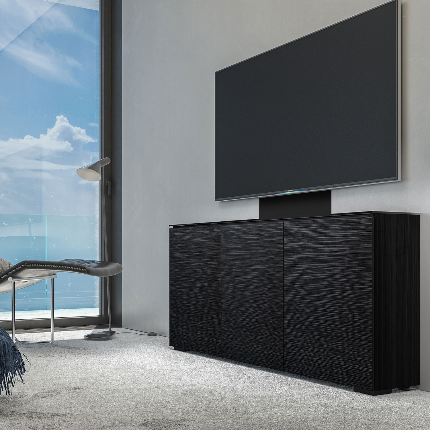 mounted wall cabinets chameleon berlin collection zoom wenge textured designs width quad av cabinet salamander