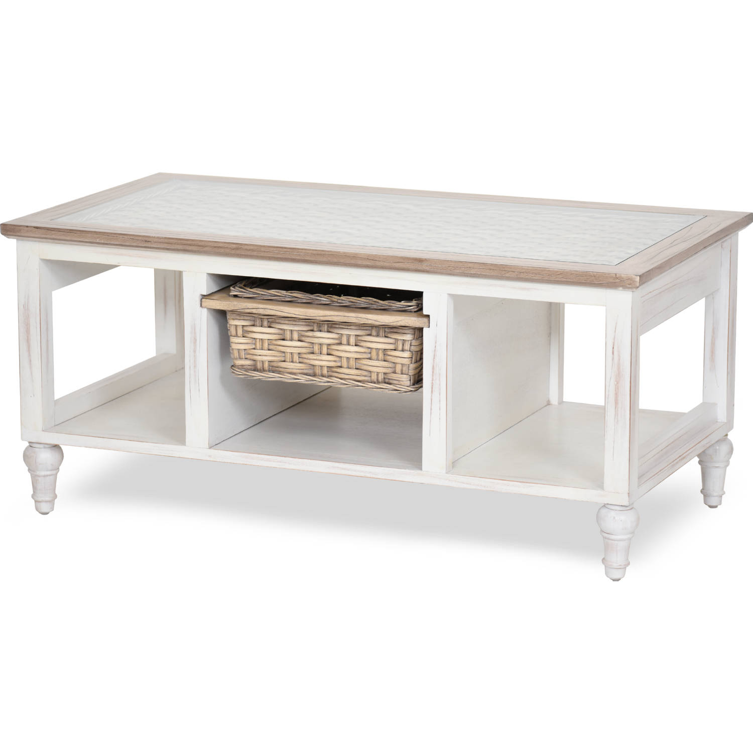 Details About New Large Weathered Reclaimed Wood 4 Drawer Coffee Table Furniture