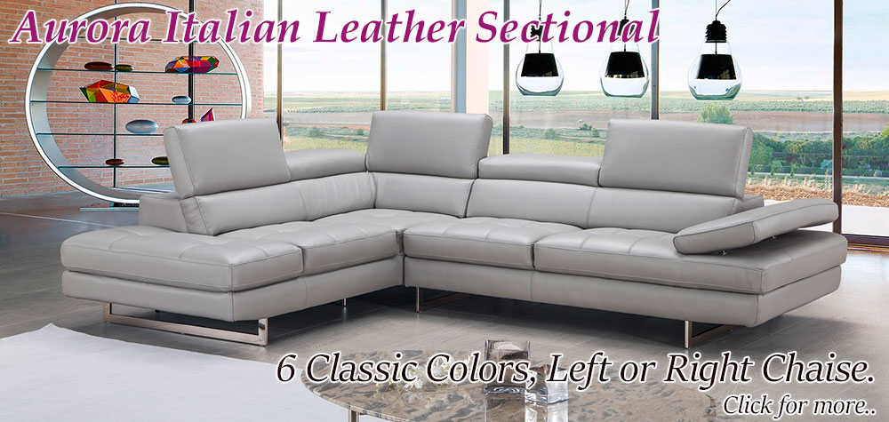 Aurora Leather Sectional