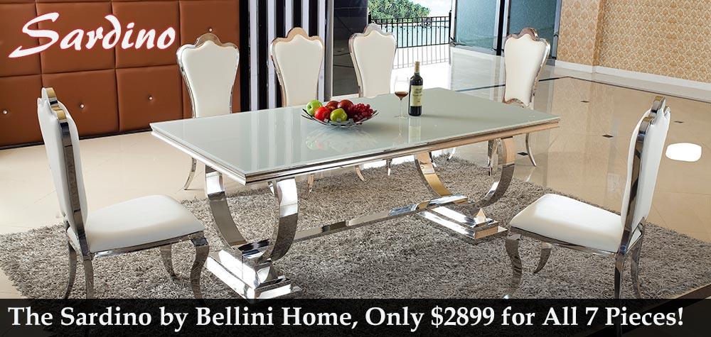 Bellini Modern Sardino Dining Set on Sale for $2899!