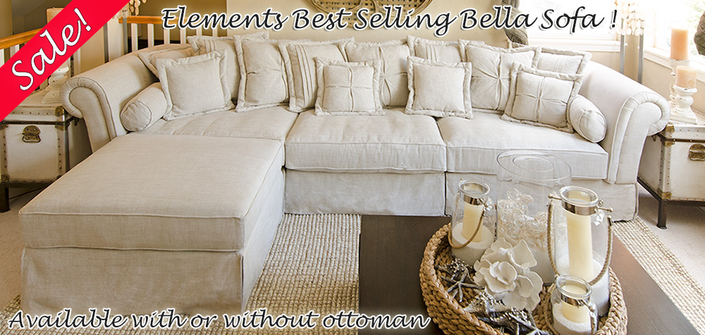 Elements Bella Sectional on SALE!